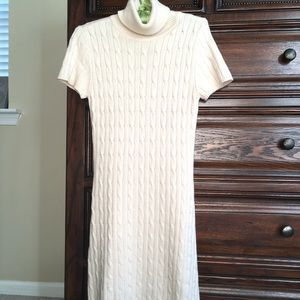 Moda International silk & cashmere sweater dress